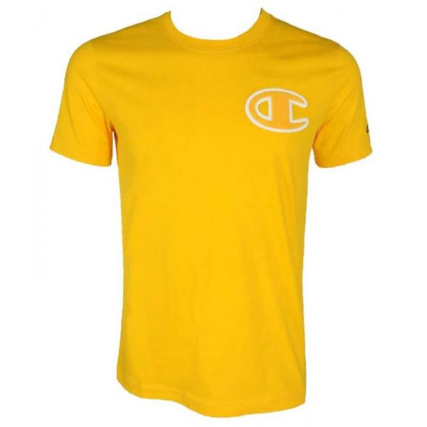 CHAMPION CREWNECK T-SHIRT YELLOW