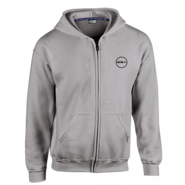 Gsa SUPERCOTTON ZIPPER HOODIE - GREY MELANZE