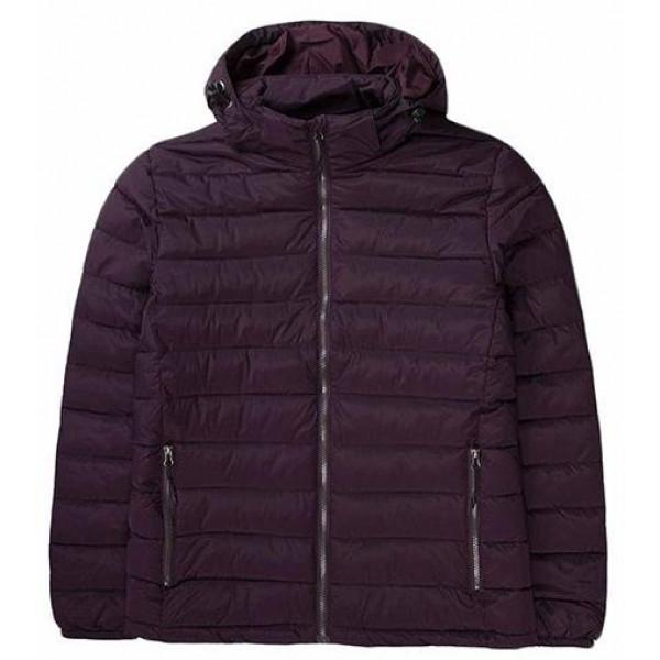 Basehit MENS JACKET WITH HOOD BORDEAUX