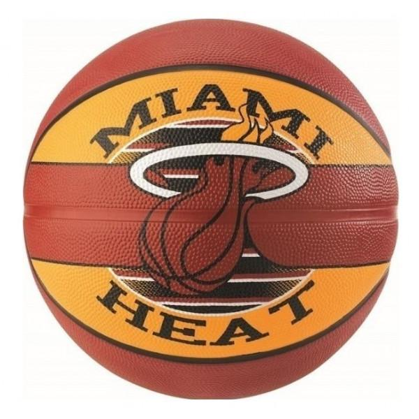 Spalding NBA TEAM MIAMI HEAT RUBBER BASKETBALL - R...