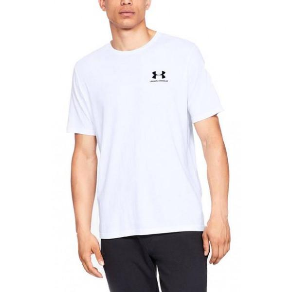 Under Armour SPORTSTYLE LEFT CHEST T-SHIRT - WHITE