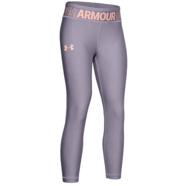 Under Armour KIDS HG ANKLE CROP CAPRI - PURPLE