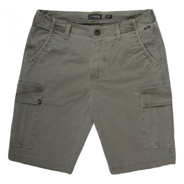 Basehit Mens Stretch Cargo Short Pants - PINE OLIV...