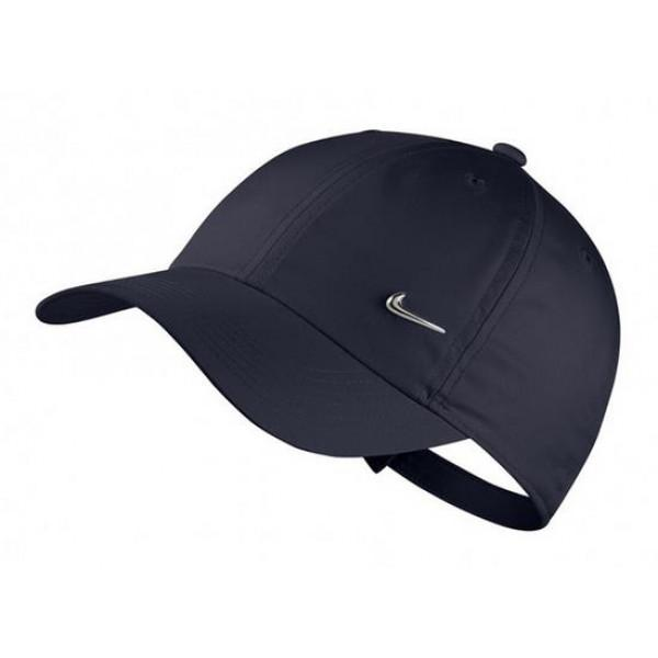 Nike YOUTH HERITAGE 86 METAL SWOOSH CAP - BLUE/SIL...