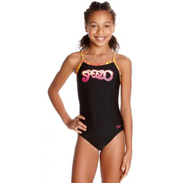 Speedo Comet Pop Placement Thinstrap Muscleback - ...