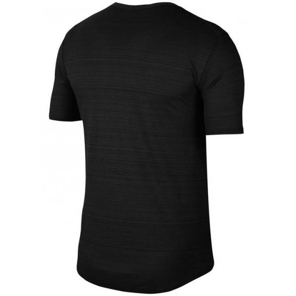 Nike DRY FIT MILLER RUNNING TOP - BLACK/REFLECTIVE