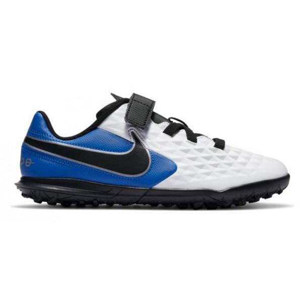 Nike JR LEGEND 8 CLUB TF (PS) - WHITE/BLUE/BLACK